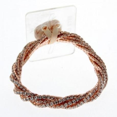 Twist Corsage Bracelet - Rose Gold