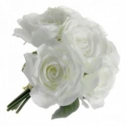 Rose Posy - Ivory (6 heads, 24cm long)