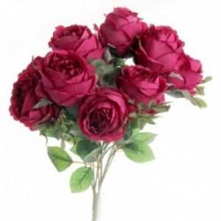 Peony Rose Bush - Cerise (10 heads)