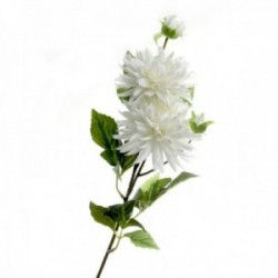 Spiked Dahlia - White (108cm long, 4 heads)