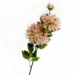 Spiked Dahlia - Pink/Cream (108cm long, 4 heads)