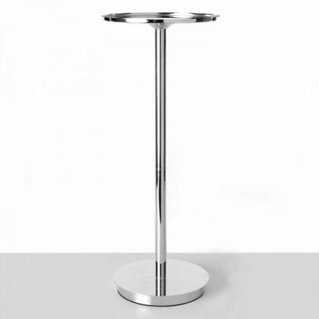 108cm Cosmos Plinth - Silver (108cm tall, 20cm diameter)