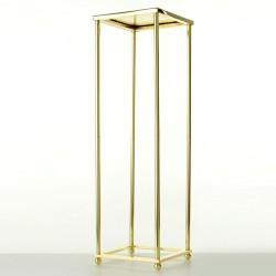 80cm Aurora Plinth - Gold (100cm tall, flat pack)