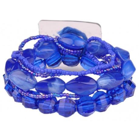 Potpourri Flower Bracelet - Blue
