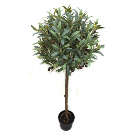 Potted Topiary Olive Tree - Natural (105cm tall)