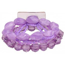 Potpourri Flower Bracelet - Purple