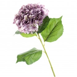 Single Hydrangea - Light Violet (19cm diameter, 82cm long)