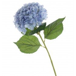 Single Hydrangea - Blue (19cm diameter, 82cm long)
