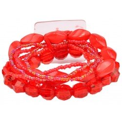 Potpourri Flower Bracelet - Red