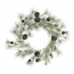 Glittered Spruce Wreath with Pine Cones (65cm diameter)