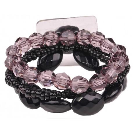 Potpourri Flower Bracelet - Black