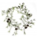 Natural Spruce Garland with Pine Cones (6ft long)