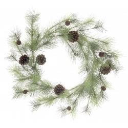 Natural Spruce Wreath with Pine Cones (65cm diameter)