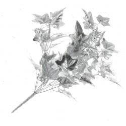 Metallic Ivy Bush - Silver