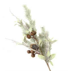 Fern and Sleigh Bell Spray - Natural (67cm long)