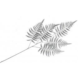 Metallic Fern Spray - Silver (50cm Long)
