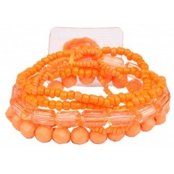 Potpourri Flower Bracelet - Orange