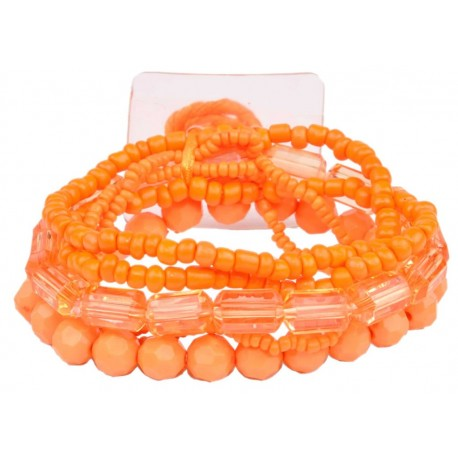 Potpourri Flower Bracelet - Orange