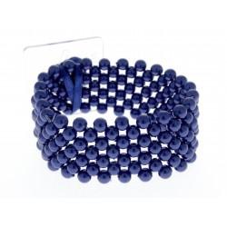 Narrow Classic Corsage Bracelet - Navy