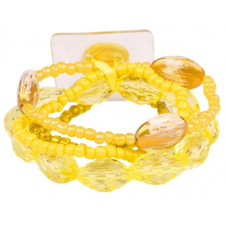 Potpourri Flower Bracelet - Yellow