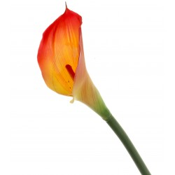 Real Touch Calla Lily - Red/Yellow (68cm long)