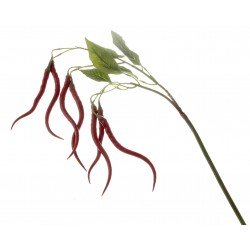 Artificial Chilli Stem - Natural (83cm long)