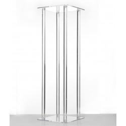 60cm Acrylic Plinth - Clear (60cm tall, flat pack)