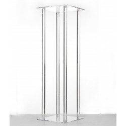 100cm Acrylic Plinth - Clear (100cm tall, flat pack)
