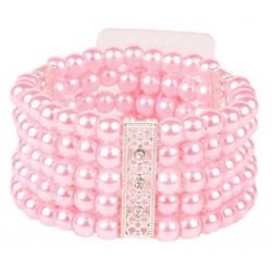 Simple Elegance Corsage Bracelet - Pink