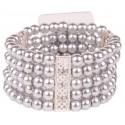 Simple Elegance Corsage Bracelet - Silver