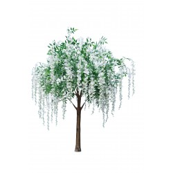 Wisteria Tree - White & Cream (1.8m tall)