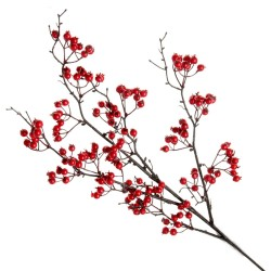 Red Berry Spray - Red/Brown (90cm long)