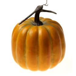 Large Artificial Pumpkin - Yellow/Green (20cm diameter, 25cm tall)