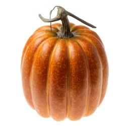 Large Artificial Pumpkin - Orange (20cm diameter, 25cm tall)