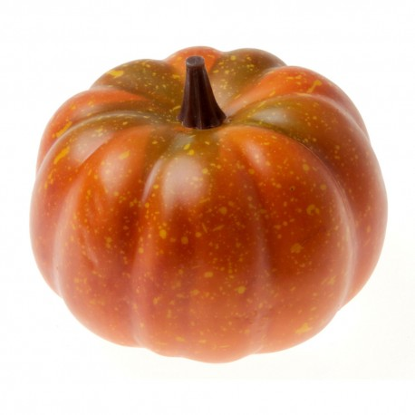 Small Artificial Pumpkin - Orange/Green (10cm diameter)