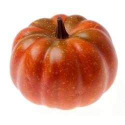 Small Artificial Pumpkin - Orange/Black (10cm diameter)