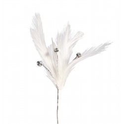 Flutters Feathers - White (15cm Long, 3pcs per pack)