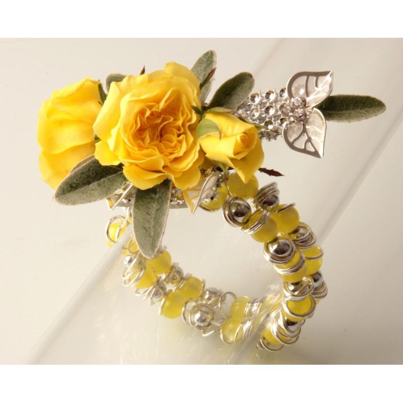 gum drops yellow corsage bracelet corsage creations