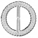 Bubble Buckles Circle - Silver (8cm diameter, 6 pcs per pk)
