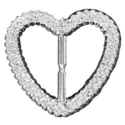 Bubble Buckles Heart - Silver (7cm diameter, 6 pcs per pk)