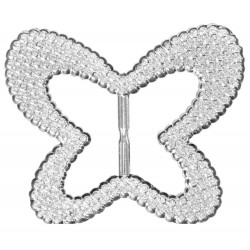 Bubble Buckles Butterfly - Silver (9cm diameter, 6 pcs per pk)