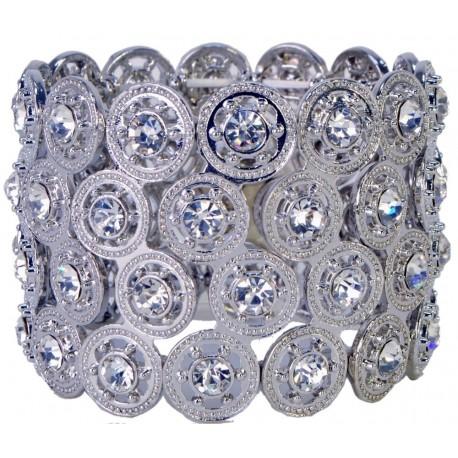 Carousel Flower Bracelet - Silver