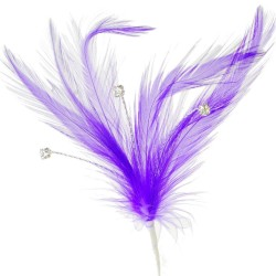 Flutters Feathers - Purple (15cm Long, 3 pcs per pack)