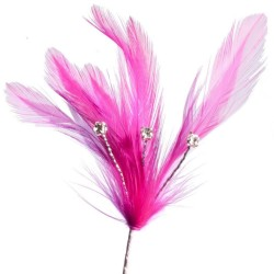 Flutters Feathers - Fuschia (15cm Long, 3 pcs per pack)