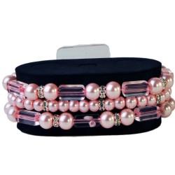 Geo Flash Corsage Bracelet - Pink