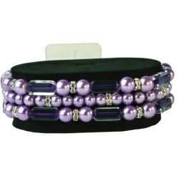 Geo Flash Corsage Bracelet - Purple