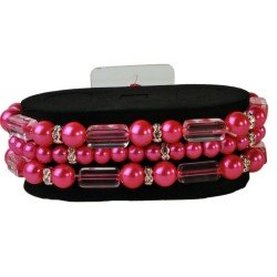 Geo Flash Corsage Bracelet - Hot Pink