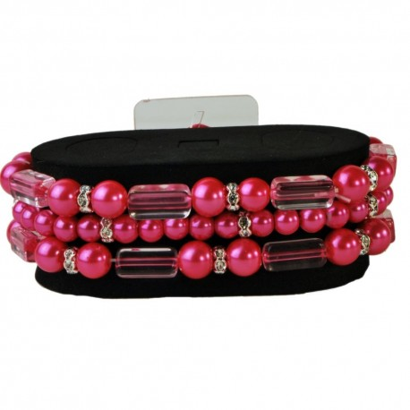 Geo Flash Bracelet - Hot Pink