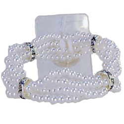 Lauren Corsage Bracelet - White