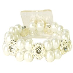 Looking Glass Corsage Bracelet - White